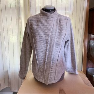 Sparrow | Anthropologie 100% Wool Zip Up Sweater